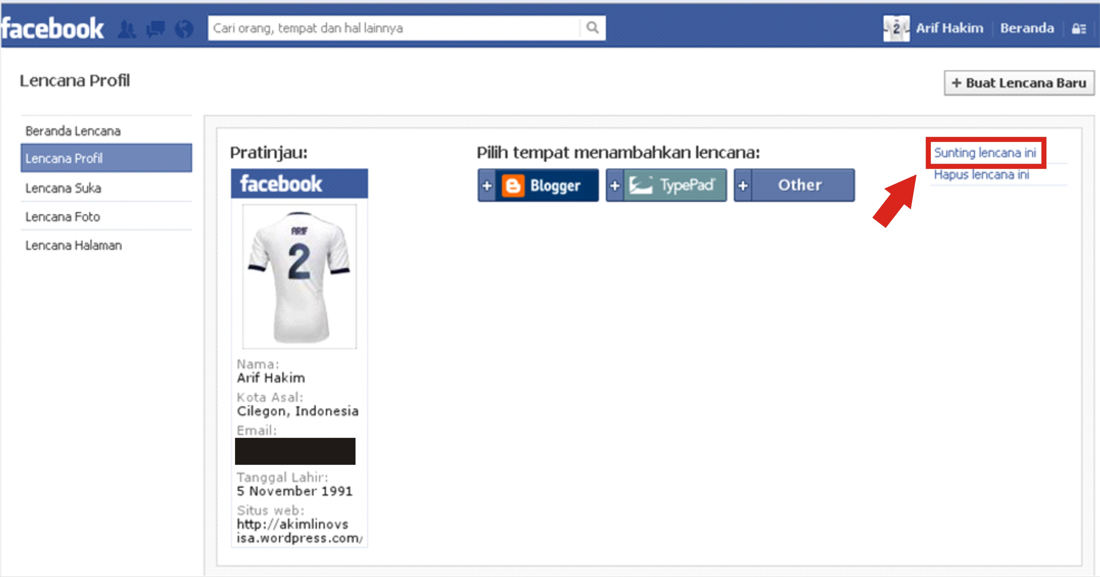 Cara Membuat Lencana Facebook Di WordPress Akimlinovsisas WP