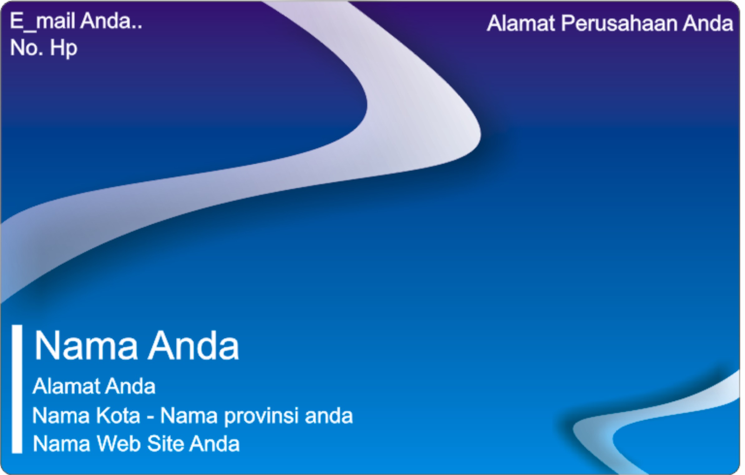 Download 540 Koleksi Background Biru Kartu Nama Gratis Terbaik
