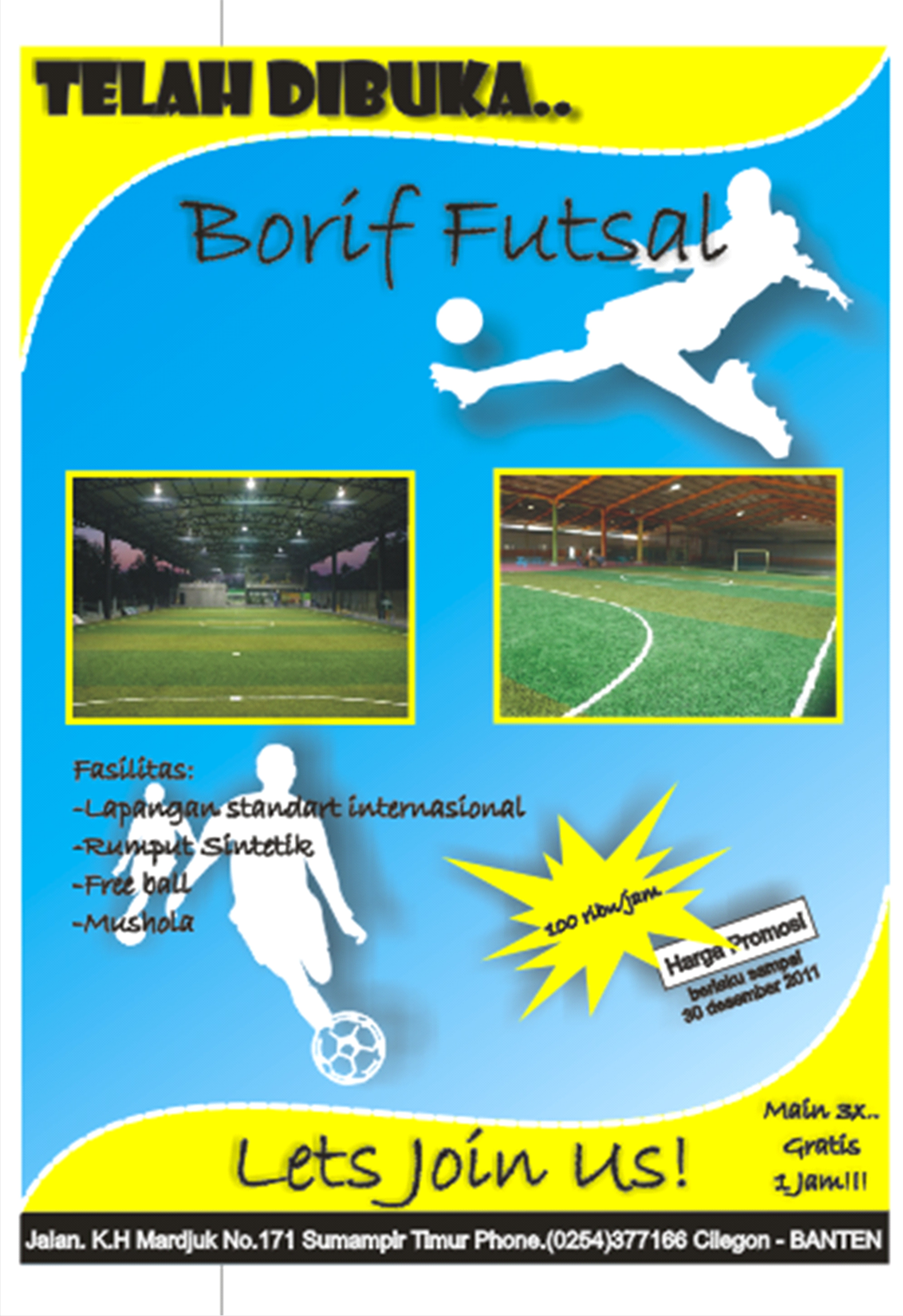 Membuat Brosur Promosi Lapangan Futsal Dengan Corel Draw 14