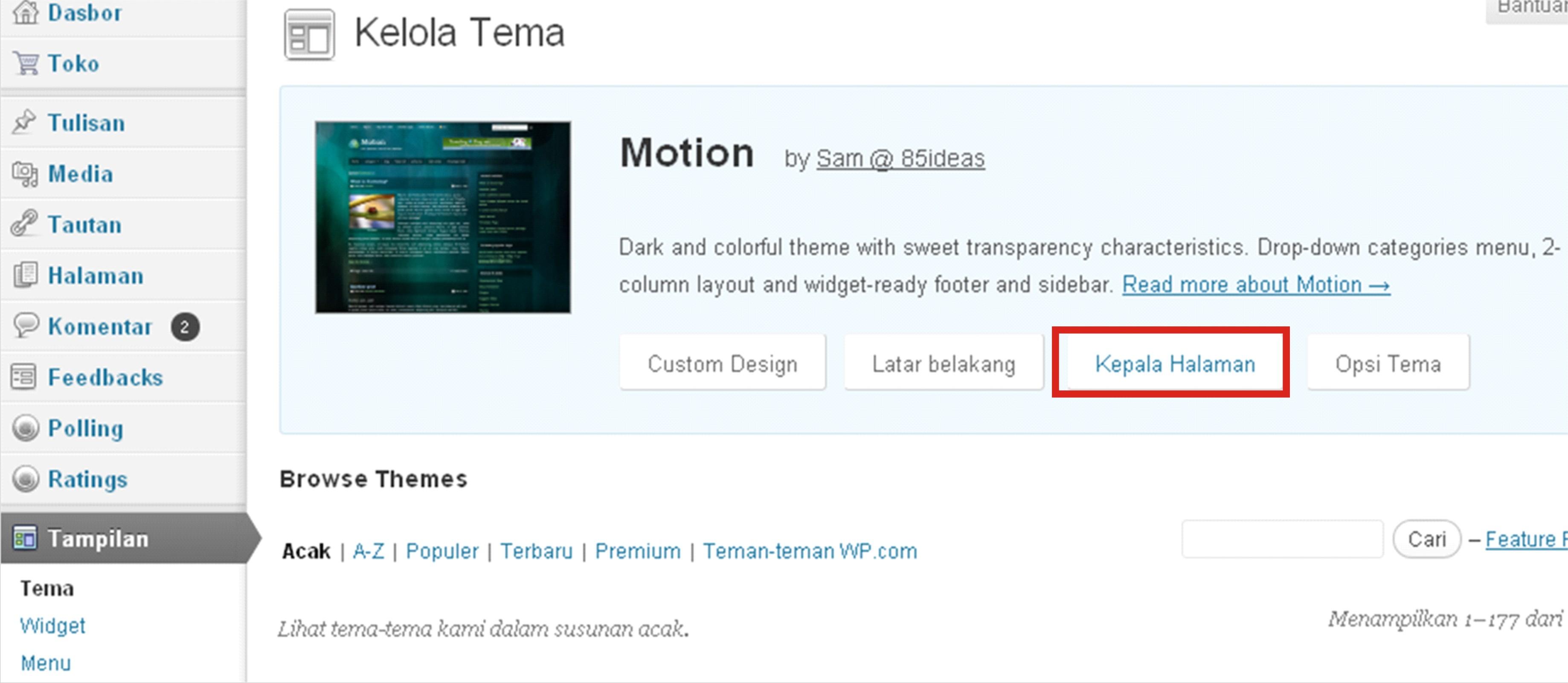 Cara Mengganti Gambar Header Pada Blog WordPress Akimlinovsisas WP