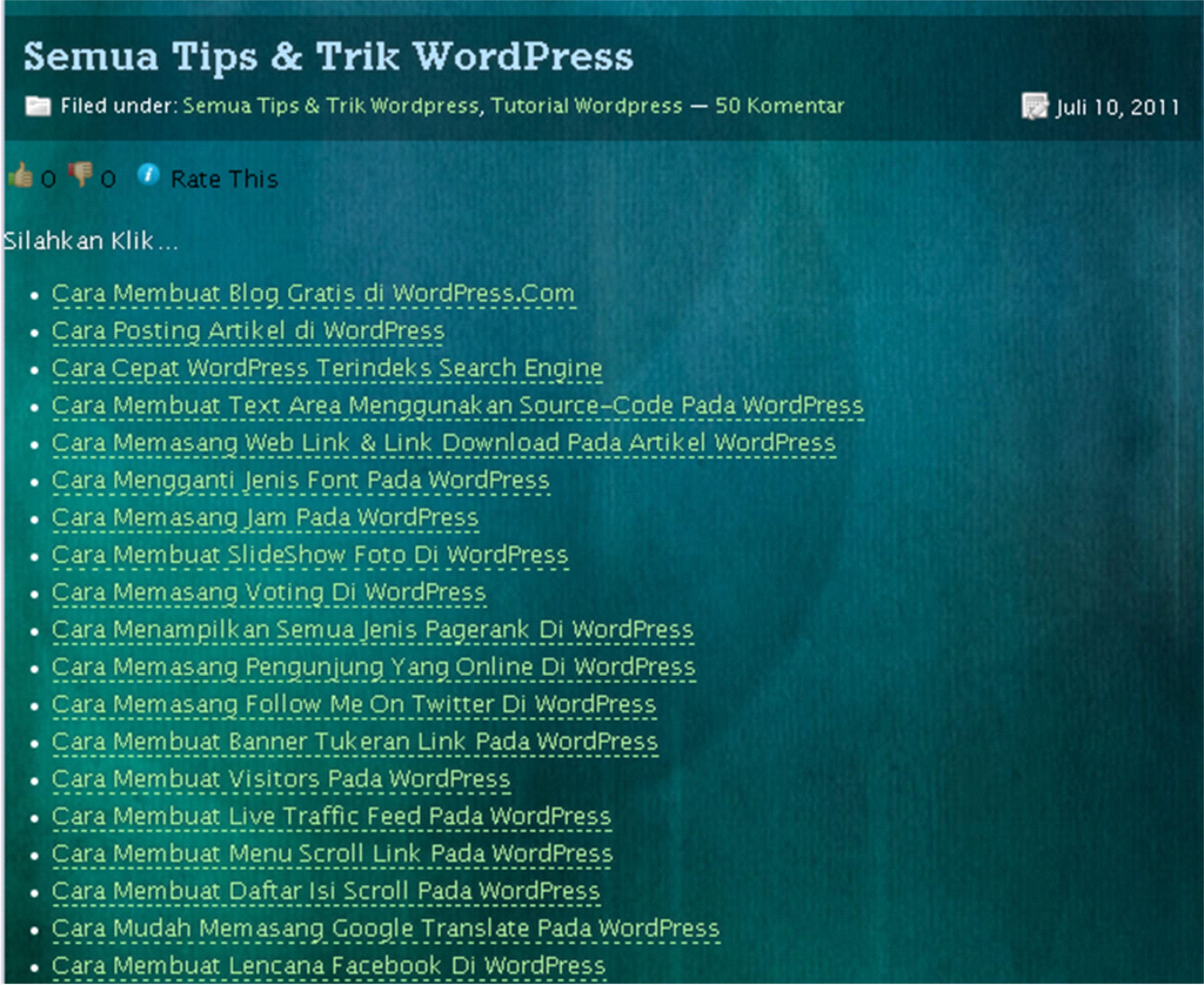 Cara Membuat Page Yang Berisi Artikel Sesuai Kategori Pada
